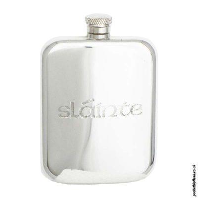 6oz-Irish-'Slainte'-Pewter-hip-flask