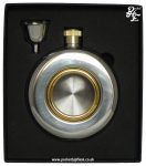 Round Port Hole Pocket Hip Flask