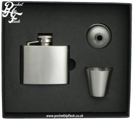 2oz Stainless Steel Hip Flask and Cup set