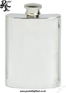 4oz Plain Pewter Hip Flask