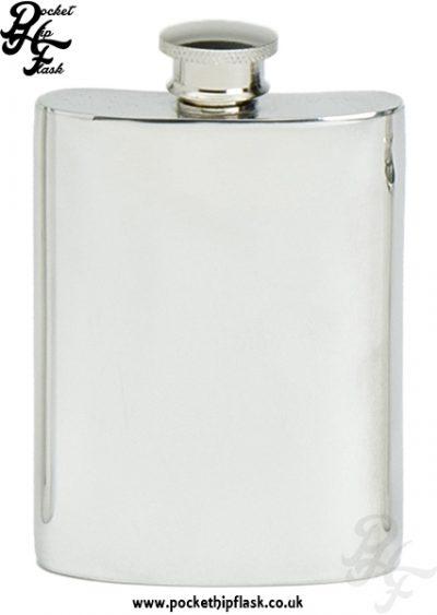 4oz Plain Pewter Hip Flask