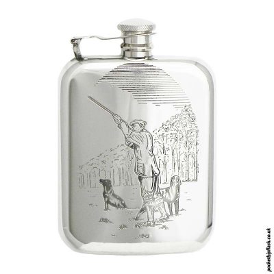 6oz-Pewter-Hip-Flask-with-Man-Shooting