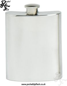 6oz Plain Pewter Hip Flask