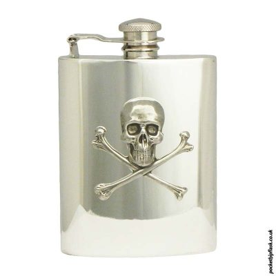 6oz-Poison-Skull-and-cross-bones-Pewter-Hip-flask
