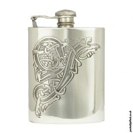 Celtic-Dragon-6oz-Pewter-Hip-Flask-with-Captive-Top