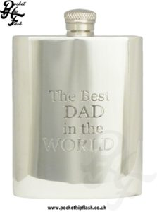 Fathers day 'the best dad in the world' 6oz hip flask
