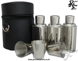 3 Flask 12oz Stainless Steel Set