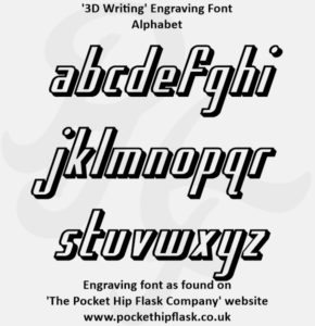 3D Writing Engraving Font