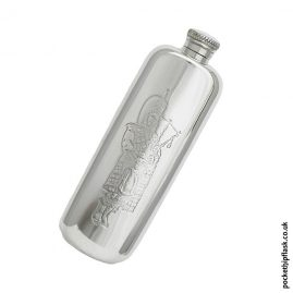 3oz-Scottish-piper-pewter-hip-flask