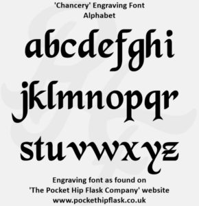 Chancery Engraving Font