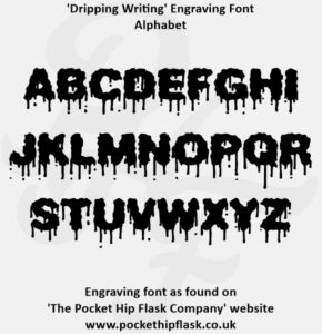 Dripping Writing Engraving Font Capitals