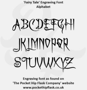 Fairy Tale Engraving Font Capitals