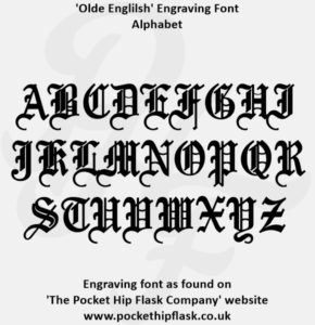 Olde English Engraving Font Capitals