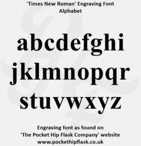 Times New Roman Engraving Font