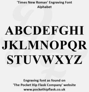 Times New Roman Engraving Font Capitals