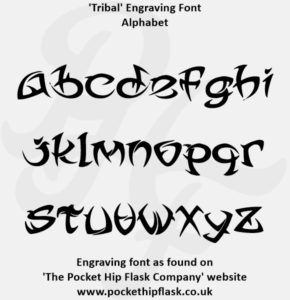 Tribal Engraving Font