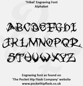 Tribal Engraving Font Capitals
