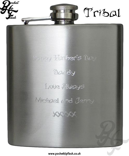 Tribal-Hip-Flask-Engraving-Example