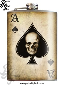 Ace of Spades 8oz Stainless Steel Hip Flasks