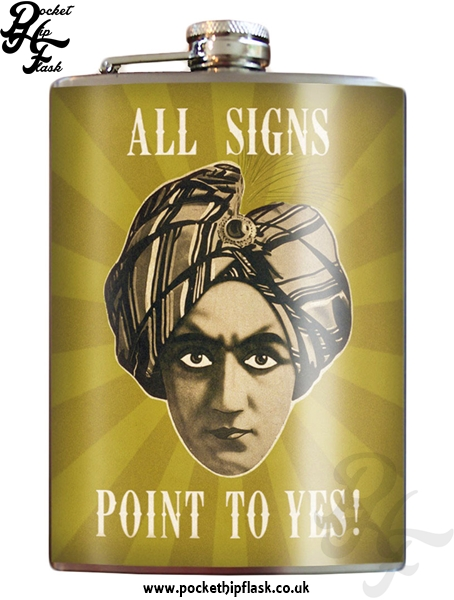 All Signs Point to Yes 8oz Stainless Steel Hip Flask