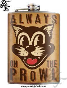 Always On the Prowl 8oz Stainless Steel Hip Flask