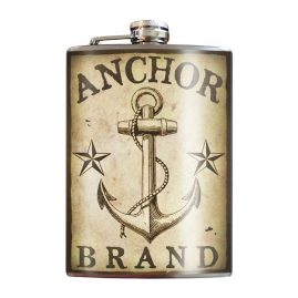 Anchor-Brand-8oz-Stainless-Steel-Hip-Flasks