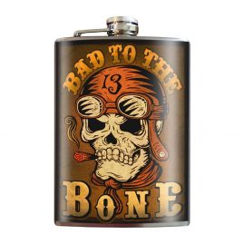 Bad-to-the-Bone-8oz-Stainless-Steel-Hip-Flask