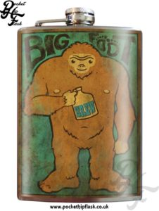 Big Foot 8oz Stainless Steel Hip Flask