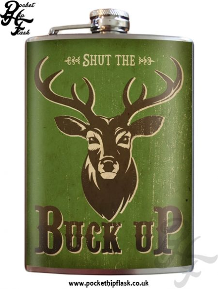 Buck Up 8oz Stainless Steel Hip Flask