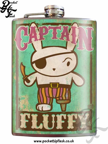Captain Fluffy 8oz Stainless Steel Hip Flask