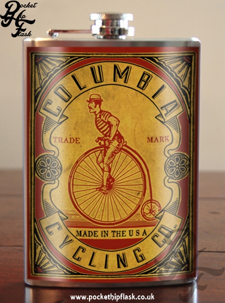 Columbia Cycling 8oz Stainless Steel Hip Flask