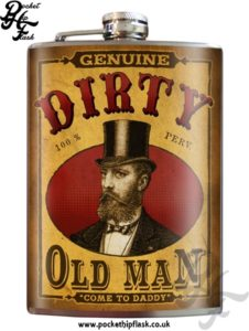 Dirty Old Man 8oz Stainless Steel Hip Flask