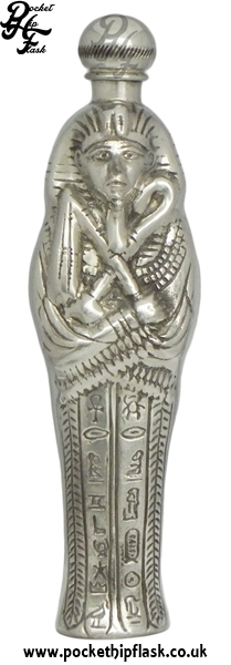 Egyptian Mummy Novelty Pewter Hip Flask