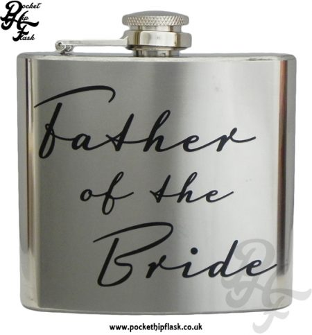 Father of the Bride 5oz Stainless Steel Hip Flask