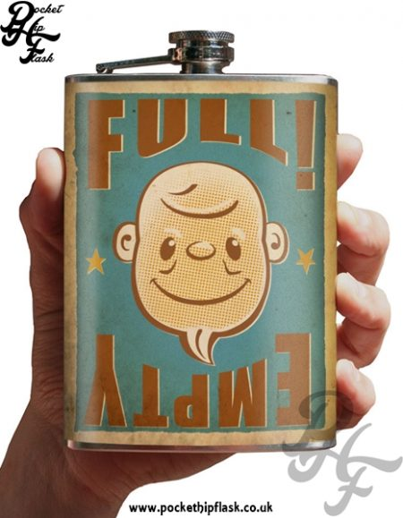 Full Empty 8oz Stainless Steel Hip Flask