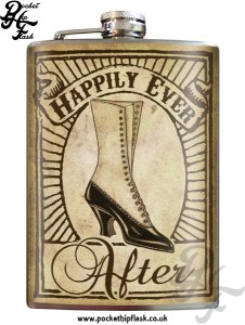 Happily Ever 8oz Stainless Steel Hip Flask