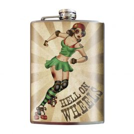 Hell-On-Wheels-8oz-Stainless-Steel-Hip-Flask