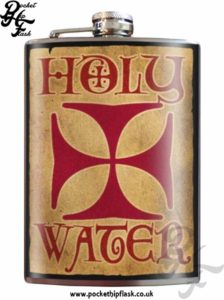 Holy Water 8oz Stainless Steel Hip Flask
