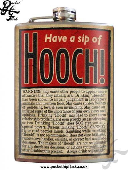 Hooch 8oz Stainless Steel Hip Flask
