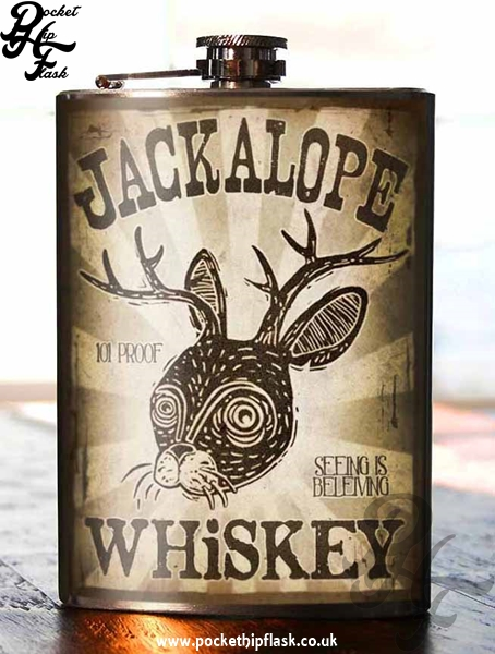 Jackalope 8oz Stainless Steel Hip Flask