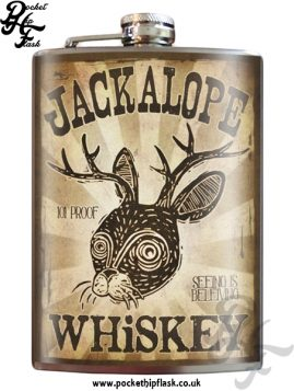 Jackalope 8oz Stainless Steel Hip Flask
