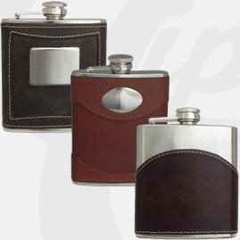 Leather Encased Hip Flasks
