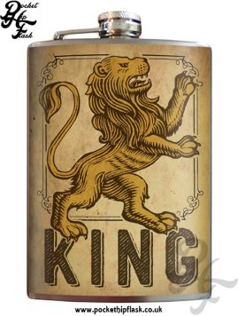Lion King 8oz Stainless Steel Hip Flask