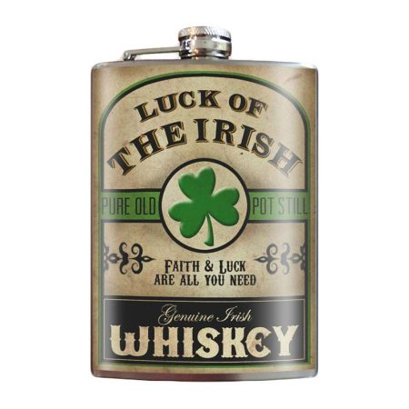 Luck-of-the-Irish-8oz-Stainless-Steel-Hip-Flask