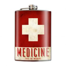 Medicine-8oz-Stainless-Steel-Hip-Flasks