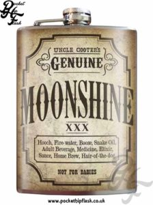Moonshine 8oz Stainless Steel Hip Flask
