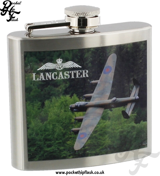 Official Royal Air Force Lancaster Stainless Steel 5oz Hip Flask