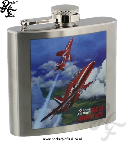 Official Royal Air Force Red Arrows Stainless Steel 5oz Hip Flask