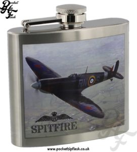 Official Royal Air Force Hip Flasks Spitfire