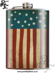 Old Glory American Flag 8oz Stainless Steel Hip Flask
